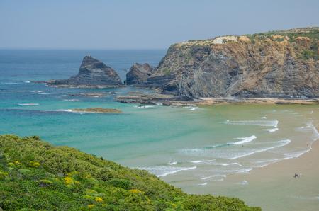 Landscape of Adegas beach near Odeceixe, Portugal.
