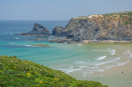 Landscape of Adegas beach near Odeceixe, Portugal.