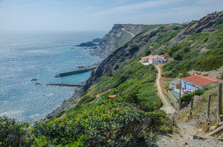 Landscape of Arrifana beach near Aljezur, Portugal