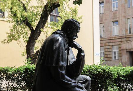 Taras Shevchenko monument on Sevcsenko square in Budapest, Hungary