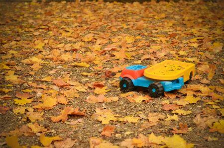 fall season on the playground 写真素材