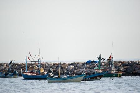 A group of fishing boat at HuaHin, Thailand
