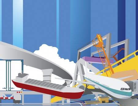 import: illustration of logistics concept