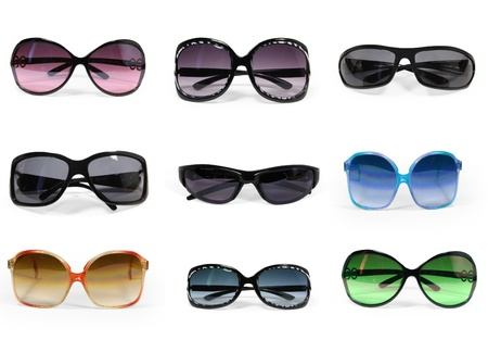 sunglasses beach: collection of sunglasses isolated