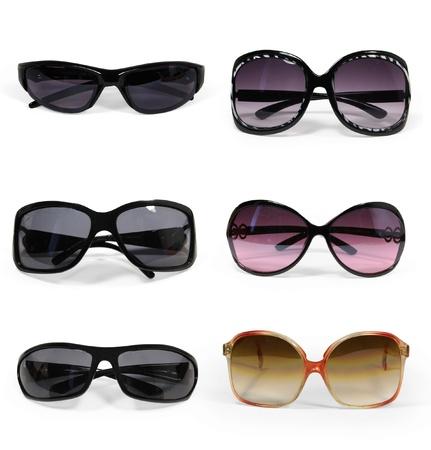 sunglasses: colecci�n de gafas de sol aisladas