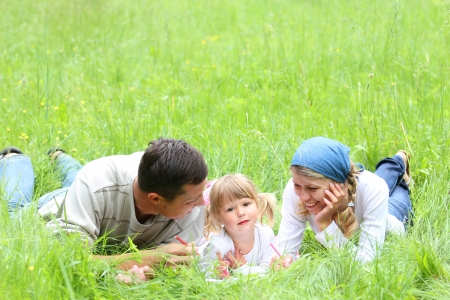 a young family on the nature Stock Photo - 18823039