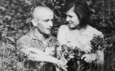 ancestors: a old vintage photograph couples in love