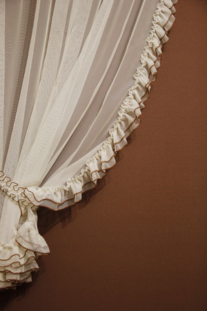 tulle: a tulle curtain Stock Photo
