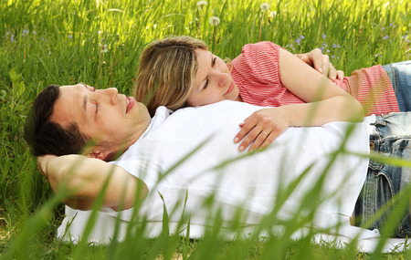 love couple: a beautiful young couple in love in nature