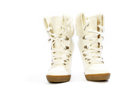 womens: a womens boots isolated isolated Stock Photo