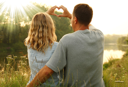 love very: very nice couple in love and heart