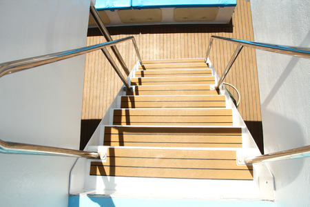 bannister: a step on a yacht