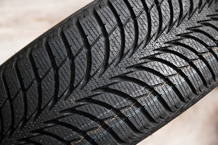 Background tires on wheels for car Stock Photo