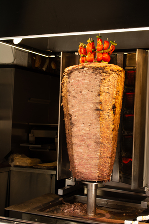 Traditional Turkish Doner Kebab on pole