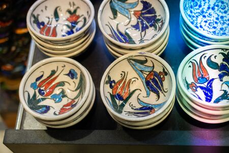 Souvenir and gift plates in Ottoman style and art patterns