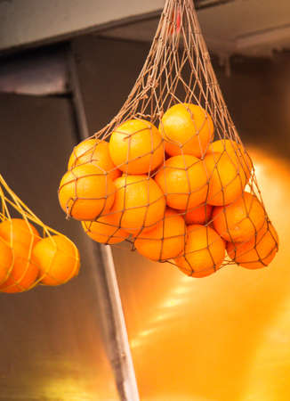 Freshly picked citrus oranges as Healthy fruits background