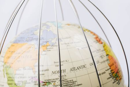 Global quarantine on virus outbreak. , pandemic.  health risk, quarantine virus.