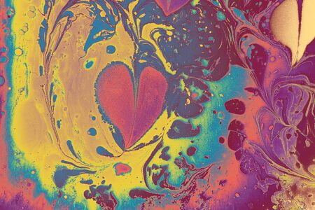 Abstract marbling pattern for fabric,  design. Heart, love, romantic concept