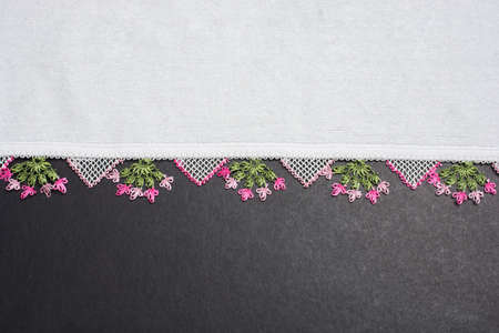 Turkish needle work embroidery Ornamental with lace patterns, details, flowers