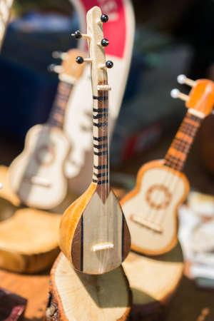 the classic turkish string instrument Saz, baglama