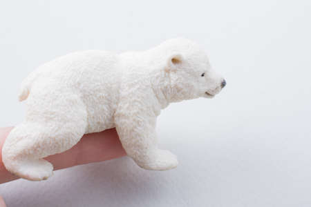 Polar bear model placed on a white background in view