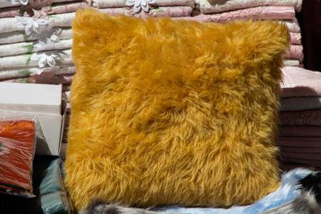traditional Turkish handmade colorful natural fabric pillows
