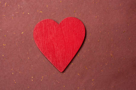 Heart shape icon as love and romance concept