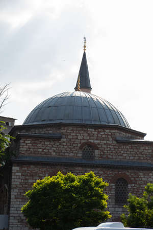 Outer view of Minaret of a mosque. Travel to Turkey concept