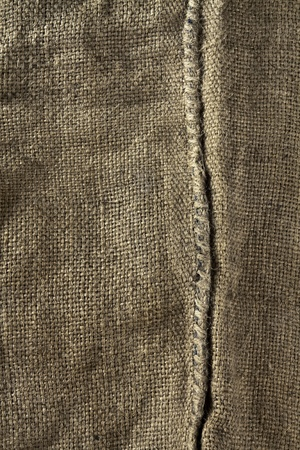 woven surface: Texture of old hemp bag used for bulk transportation