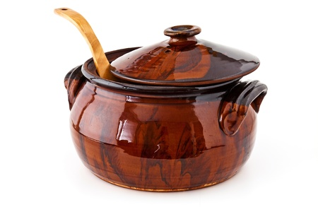 clay pot: Balkan traditional clay pot cooking