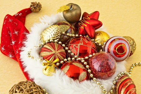 reasons: Arranged scene with reasons for New Year decorations Stock Photo