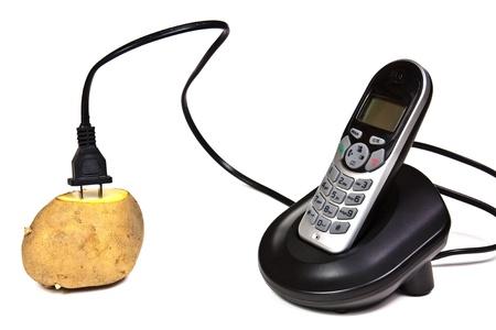 Battery of potato - a practical idea forgreen energypracticable photo