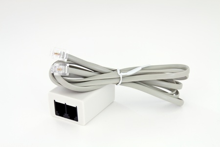 Cable and ADSL socket for connecting the telephone line with a global network 版權商用圖片