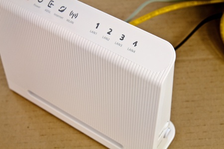 ADSL modem for home access to the global network photo
