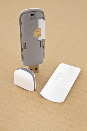 3G WI FI modem for mobile connection to the global network photo