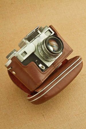 Model of classical 35 mm camera in the middle of the nineteenth century photo