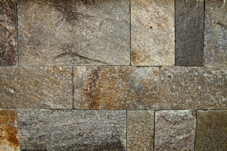 Decorative Exterior Wall Covering Resembling A Stone Wall Photo