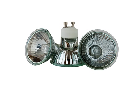 halogen: Interior halogen lamps isolated