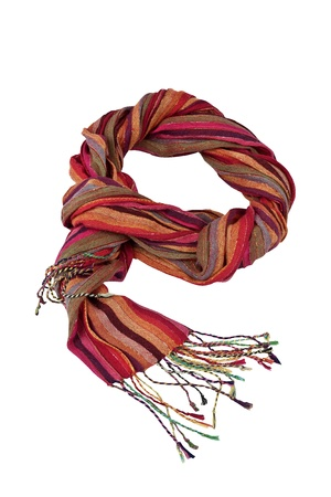 Soft, stylish and colorful winter scarf  isolated