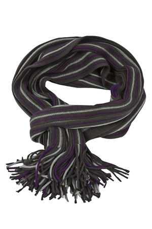 Soft, stilvolle und farbenfrohe Winter Schal isoliert Standard-Bild - 16538650