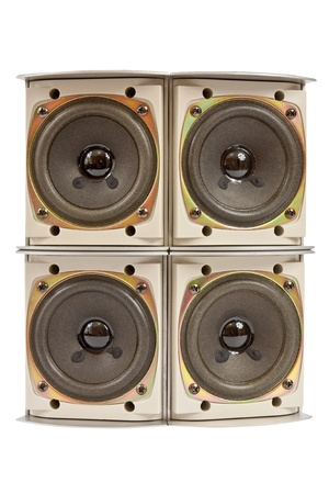 Hi fi home speakers of the sound system Stock Photo - 16702661