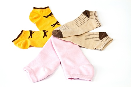 Short stockings in bright warm colors photo