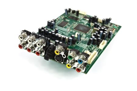Vorstand mit Chips, integrierte Schaltkreise, Halbleiter in der Elektronik Standard-Bild - 20137921