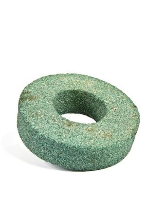Washer Emery disk isolated on white background photo