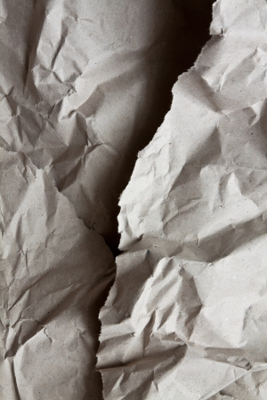 Wrinkled wrapping paper photo