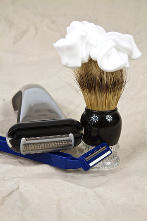 Tools for maintaining personal hygiene of the mans face photo
