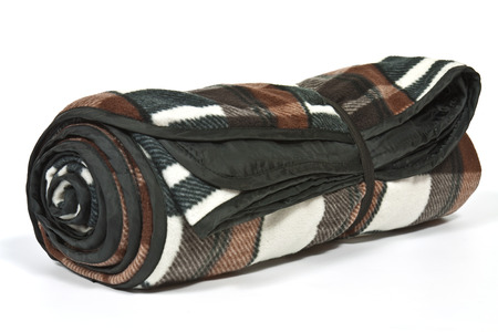 Rolled picnic blanket  photo