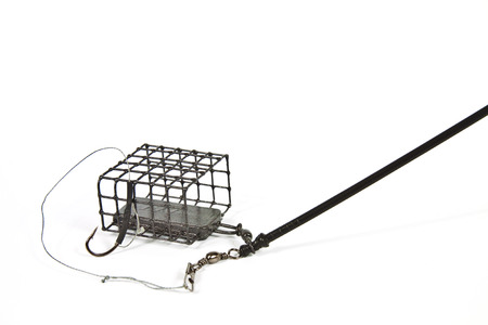 Wire feeder designed for bottom fishing for trophy fish Stock Photo