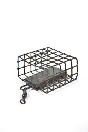 plummet: Wire feeder designed for bottom fishing for trophy fish Stock Photo