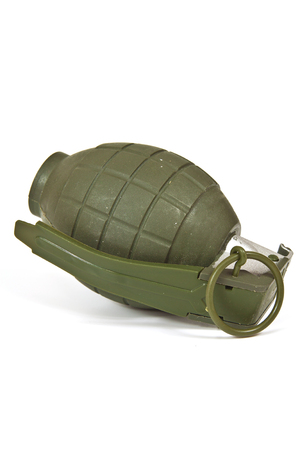 shrapnel: Realistic looking hand grenade made of plastic